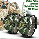 FomCcu 2 Pieces Video Walkie Talkie Watch 7-In-1 Gift Toys for Kids Outdoor Games Girls Boys Chirldrens