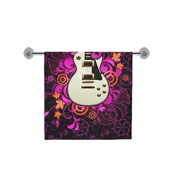 Amor naturaleza personalizado guitarra arte baño cuerpo ducha toalla de baño Wrap para el hogar al