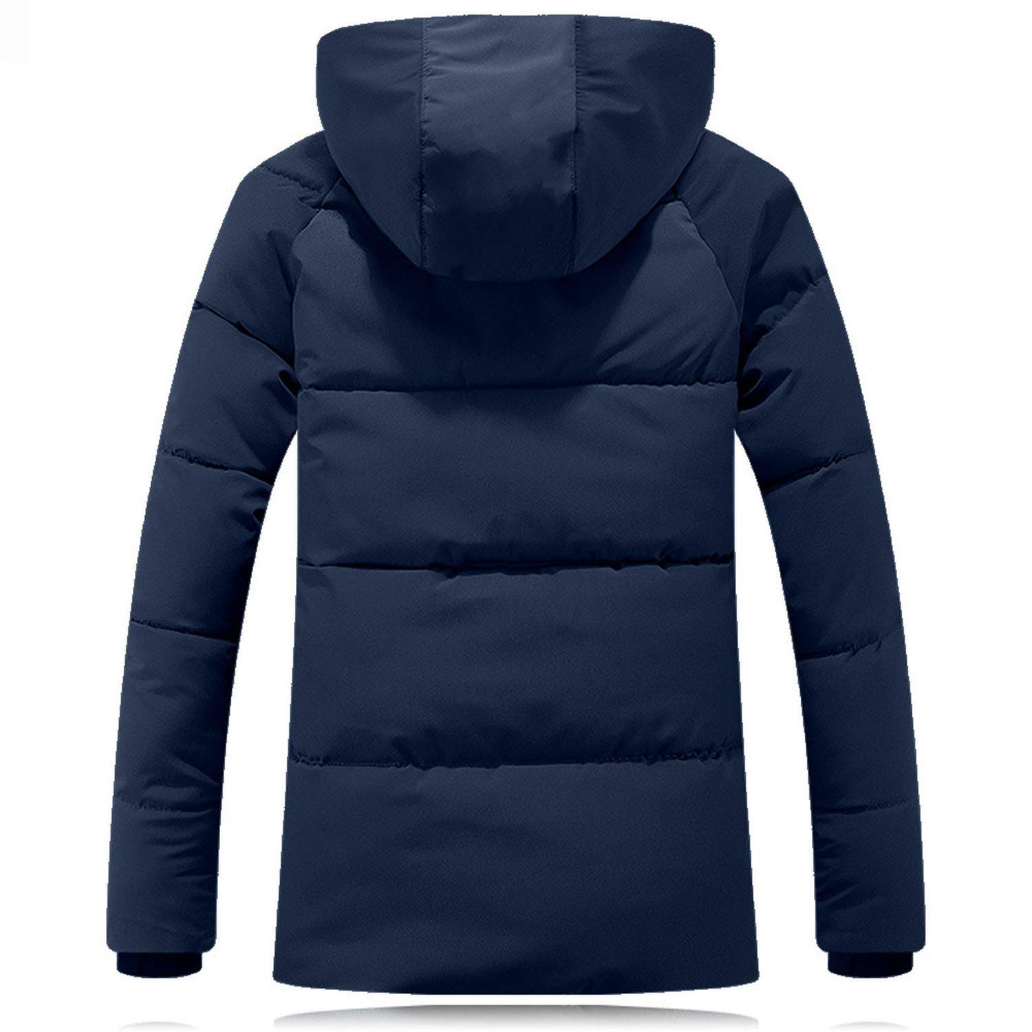 Im good at you Men Coat Fashion Winter Polyester Hoodie Thickened Cotton Outwear Coat Gray Red Blue Plus Size z1026