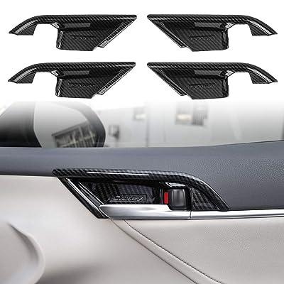 CKE Inner Door Handle Decoration Cover ABS Door Bowl Trim Sticker Carbon Fiber Texture For Toyota Camry 2020 2020 2020(4pcs): Automotive