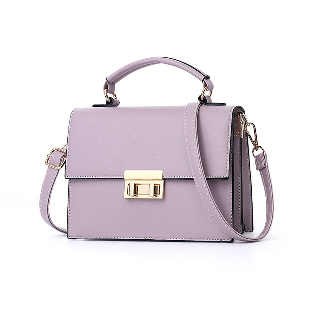 Women'S Small Square Bag, Hand-Held Single Shoulder Girl Spans,Violet,23X16X9Cm