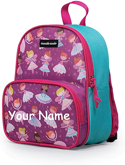 Personalised Girls Wooden Name School Book Bag Keyring Unicorn Owl
