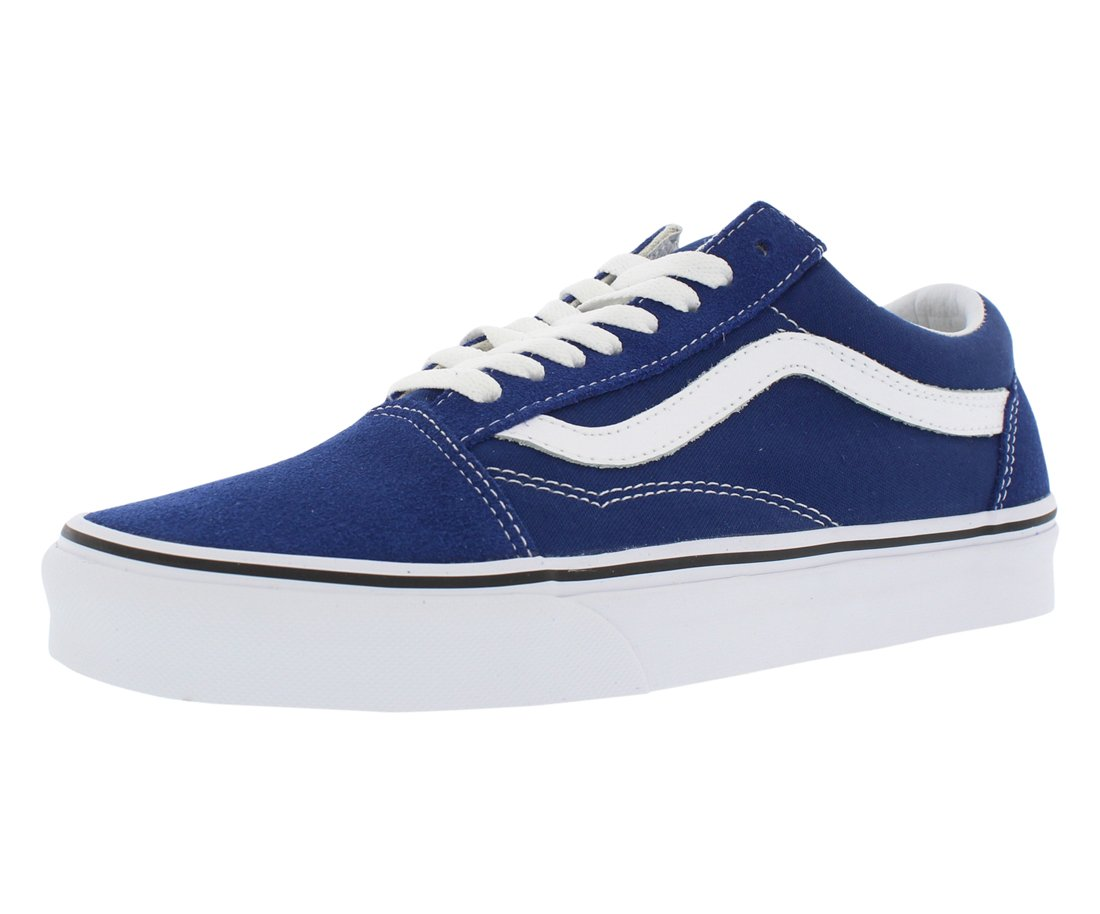 Vans Unisex Adults Old Skool Classic Suede/Canvas Sneakers, Blue (Estate Blue/True White), 8 UK (42 EU)
