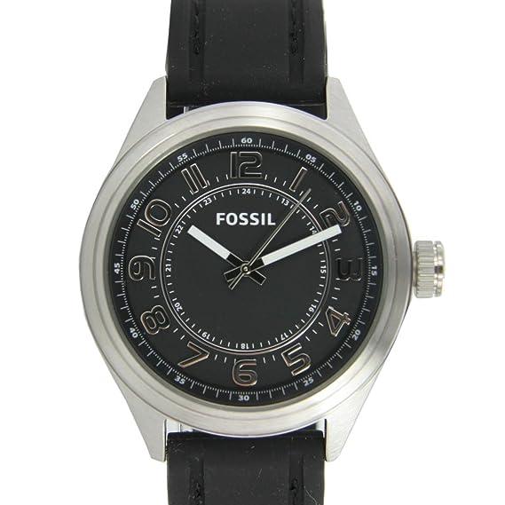 Fossil BQ1045 - Reloj para hombres, correa de silicona color negro: Amazon.es: Relojes