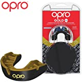 Opro Gold Level Mouthguard | Gum Shield for Hockey, Rugby, Lacrosse, Boxing, and other Combat and Contact Sports - 18 Month Dental Warranty (Adult/Kids Sizes)