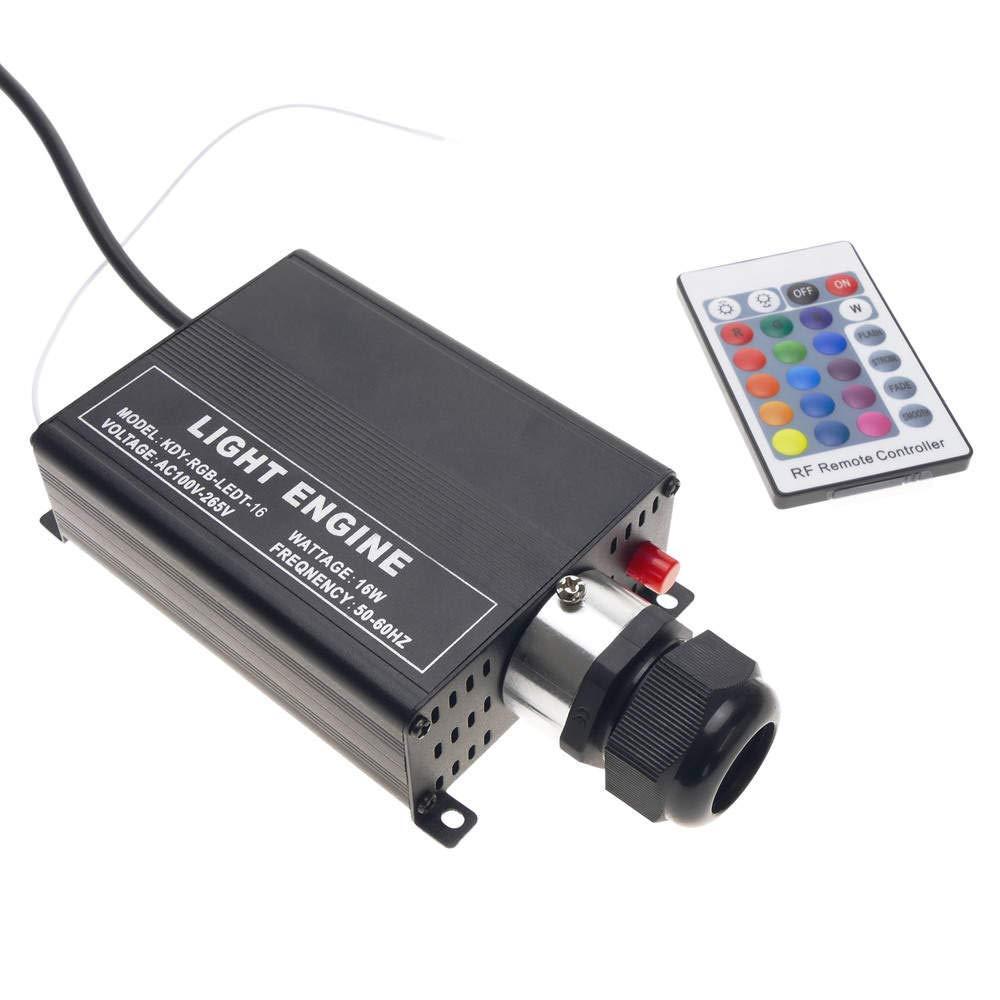 Cablematic LED-Lichtquelle für Faseroptik-Lichtquelle 1x16W RGB 20mm RF