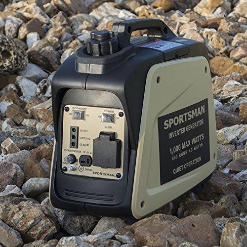Buffalo Tools Sportsman Inverter Generator - 1000 Starting Watt/800 Running Watts - Gas Powered Portable Camping Outdoors - Tan Color