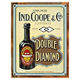 Cheap Wood-Framed Double Diamond Metal Sign, Pale Ale, Vintage, Bar, Pub, Beer on reclaimed, rustic wood