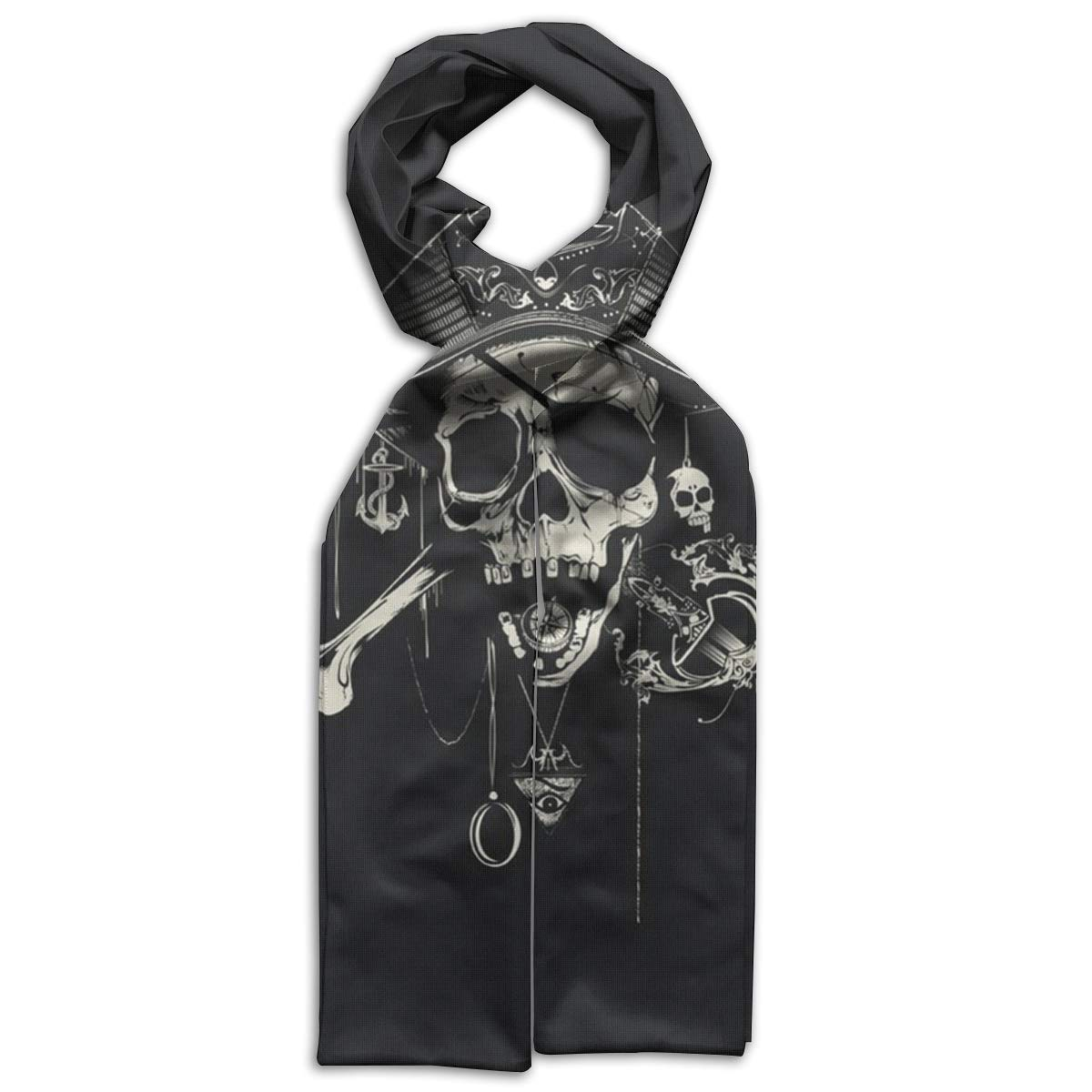 Pirate Skull Kids Printed Scarf Soft Winter Infinity Scarf Warmer Travel Scarf For Kids Perfect Birthday Gift