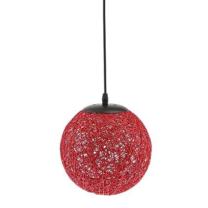 Dolity Colgante Lámpara de Techo Decoración para Sala de Estar, Dormitorio, Cuarto de Niños, Comedor - Rojo