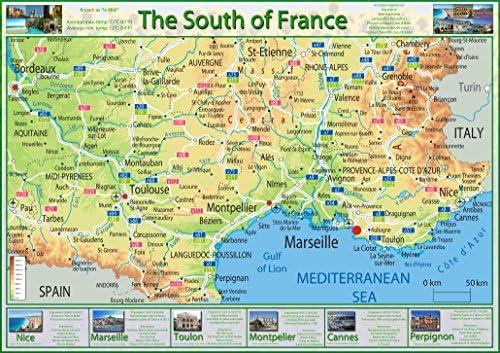 Cartina Francia Sud Dettagliata.Mappa Del Sud Della Francia Carta Plastificata A1 Clear Amazon It Cancelleria E Prodotti Per Ufficio