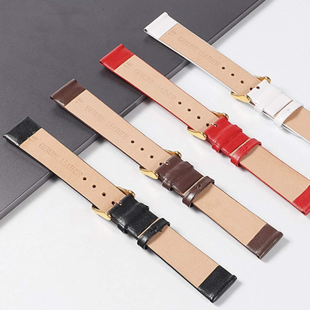 Uhren Zubehör 12mm-24mm-echtes Leder-Uhrenarmband Uhrenarmband Mode Uhrenarmbänder P05 3 (3)