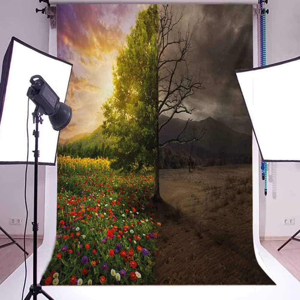 6.5x10 FT Photography Backdrop Mother Earth Contrast with Life and Death Theme Dark Forest Fresh Dry Design Print Background for Photography Kids Adult Photo Booth Video Shoot Vinyl Studio Props