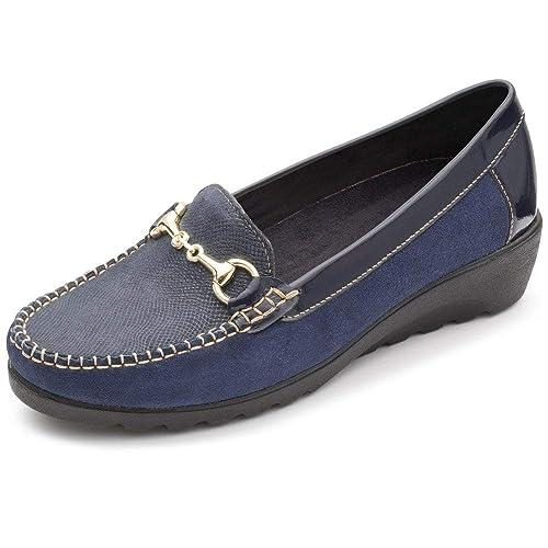 7b72d2e6916 Padders Georgina Womens Leather Moccasins  Amazon.co.uk  Shoes   Bags