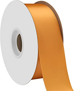 """product image for Offray Berwick 1.5"""" Single Face Satin Ribbon, Gold Yellow, 50 Yds"""