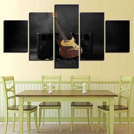 Wallfia Etapa de Instrumento de Guitarra Cuadro en Lienzo Arte de ...
