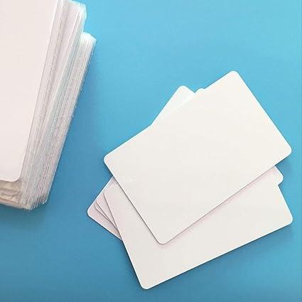 jeerui 10 x NFC ntag215 Foro tipo 2 PVC blanco NFC tarjeta ...