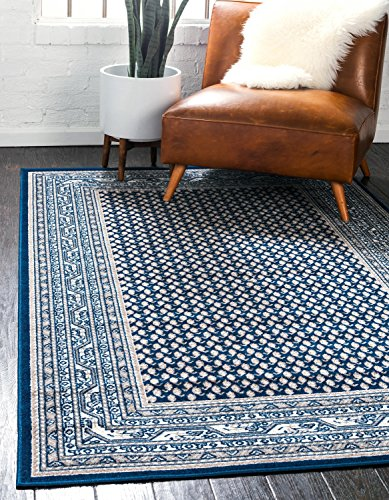 Unique Loom Williamsburg Collection Traditional Border Blue Area Rug (9' 0 x 12' 0)
