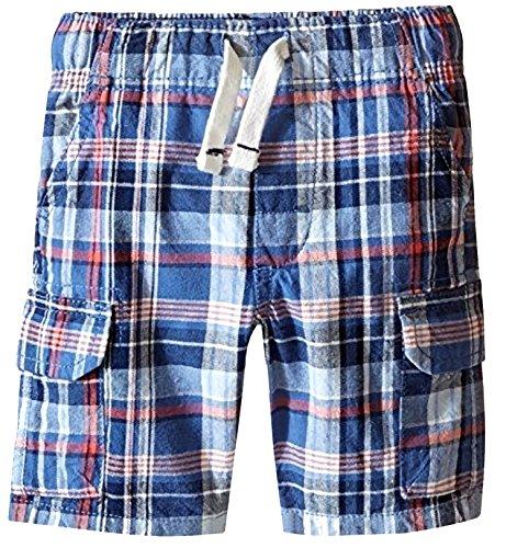 Shorts Plaid Canvas (Carter's Plaid Canvas Shorts, Red/White/Black, 3T)