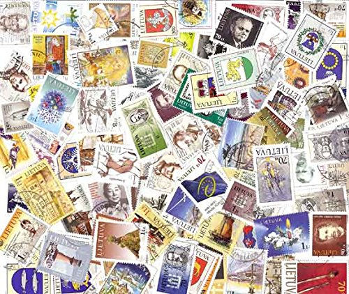 Lithuania Stamp Collection - 100 Diff Postally Stamps Post ()