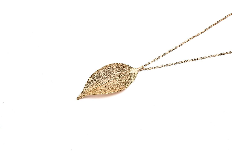LEAFMENTS Blatt-Kette in Rosé Gold - Baumspende/Leaf Anhänger LMCRG