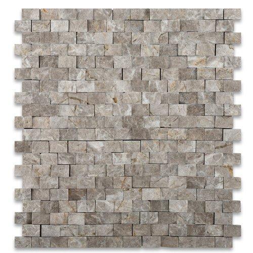 SILVERADO GRAY 5/8X1 Marble SPLIT-FACED Mosaic Tile