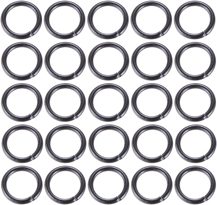 4x0.8mm VALYRIA 500pcs Siver Tone Stainless Steel Open Jump Rings Connectors 0.8mm Fit Jewelry DIY