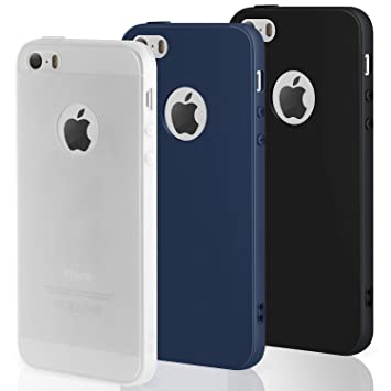 coque iphone 5 silicone bleu
