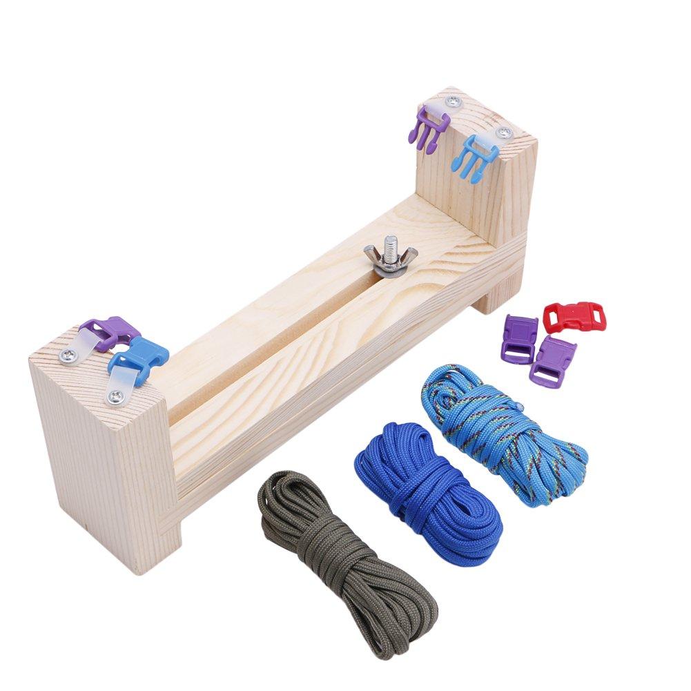 Techinal Jig Bracelet Maker with Parachute Cord, Paracord Braiding Weaving DIY Craft Tool Kit, for Handmade Gift Hobby Art Jewelry Tools Loom - Heavy-Duty Buckles 4336924199