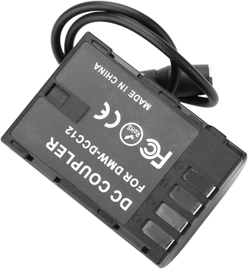 Pomya Dummy Battery Adapter ,Fully-Coded NP F970 Dummy Battery to DMW-DCC12 Adapter Camera Charger for P a na Sonic