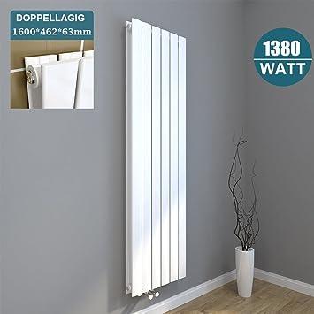 Heizkörper Zum Sitzen design flach heizkörper 1600x462mm weiß paneelheizkörper vertikal