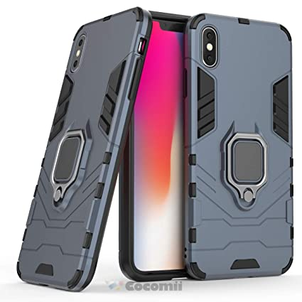 5c6408d5b98 Cocomii Black Panther Armor iPhone XS Funda [Robusto] Táctico Anillo  Metálico Sujeción Soporte Antichoque
