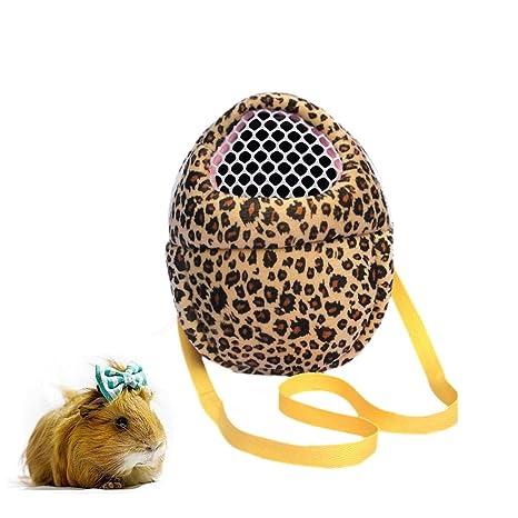 Pequeñas bolsas de transporte de animales para mascotas, bolsa de viaje portátil transpirable, bolsa de mano para hámster/erizo/conejo/azúcar ...