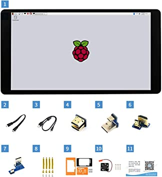 5.5inch Capacitive Touch Screen AMOLED with Protection Case 1080x1920 Display HDMI Interface 170° Viewigng Angle Supports Multi Systems for Raspberry Pi: Amazon.es: Electrónica