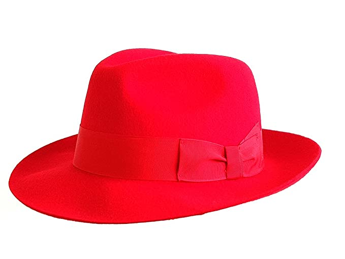 Image Unavailable. Image not available for. Colour  The Hat Outlet Men s Red  Wool Trilby Fedora Hat a4ef0c1d8c2