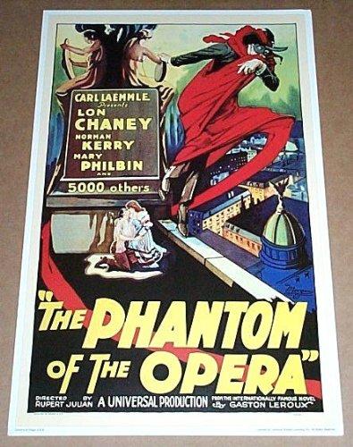 17 by 11 inch Lon Chaney Sr Phantom of The Opera Universal Studios Horror Monster Movie Poster Print 1