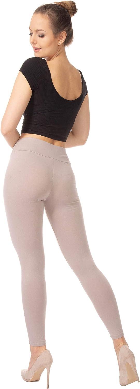 talle alto tallas grandes BENSINI Leggings de algod/ón de longitud completa para mujer suaves