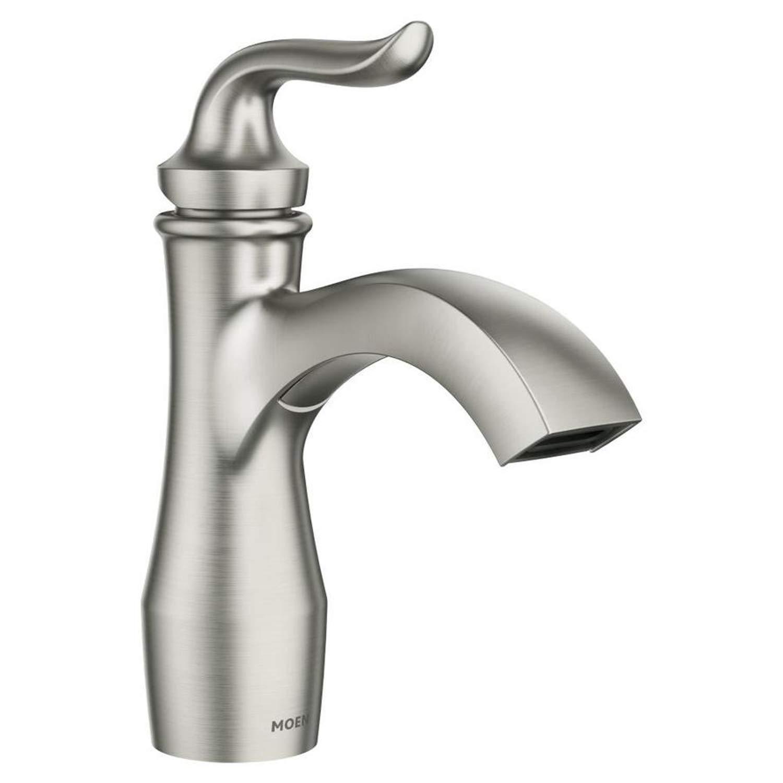 Moen Hamden Spot Resist Brushed Nickel 1-handle Single Hole/4-in Centerset Bathroom Faucet