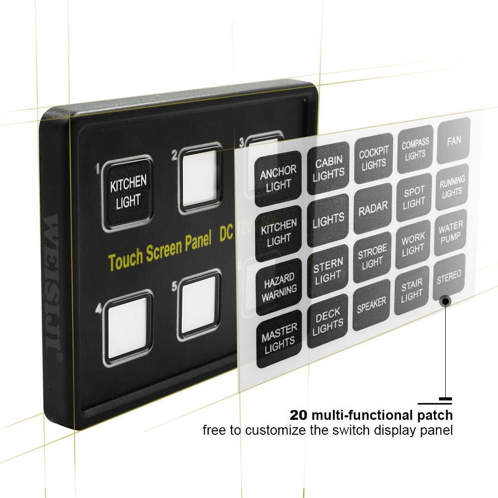 Amazon.com: WEISIJI LED Switch Panel, 6 Gang Capacitive Touch Screen ...