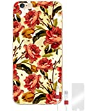 Make Me Chic Butterfly Rose iPhone Weicher Silikon Schutzhülle Bumper Handyhülle Hülle Case Cover Schale TPU mit Motiv + Displayschutzfolie + Kabel Saver (iPhone 6 / 6S)