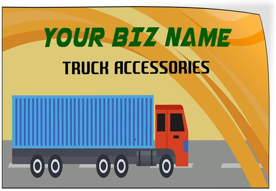 Custom Door Decals Vinyl Stickers Multiple Sizes Business Name Truck Accessories Business Rv Outdoor Luggage /& Bumper Stickers for Cars Orange 30X20Inches Set of 10