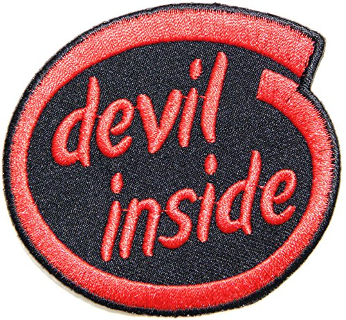 Devil Inside Hog Outlaw Logo Halloween Lady Biker Rider Punk Rock Tatoo Jacket T-shirt Patch Sew Iron on Embroidered Sign Badge (Jocker Costume)