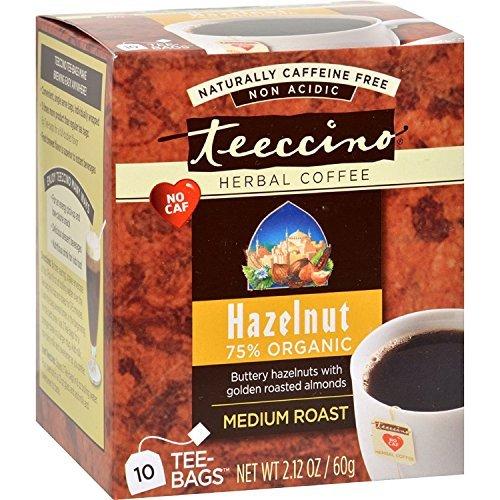 (Teeccino Herbal Coffee Hazelnut - 10 Tea Bags - Case of 6)