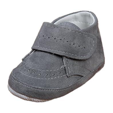 newest abfd0 b8b28 Festliche Babyschuhe Baby Schuhe für Jungen grau Klettverschluss Modell  4914-g