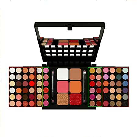 SKFG® 78 Colores Kit De Maquillaje Profesional Set Caja Maquillaje Sombras De Ojos Desnudos Colores Sombra De Sombras Paleta Conjunto Vegano Ojo Paleta FuncióN Maquillaje,StyleB: Amazon.es: Hogar