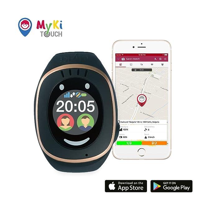 MyKi - Reloj para niños con localizador GPS, teléfono con aplicaciones de emergencia y de