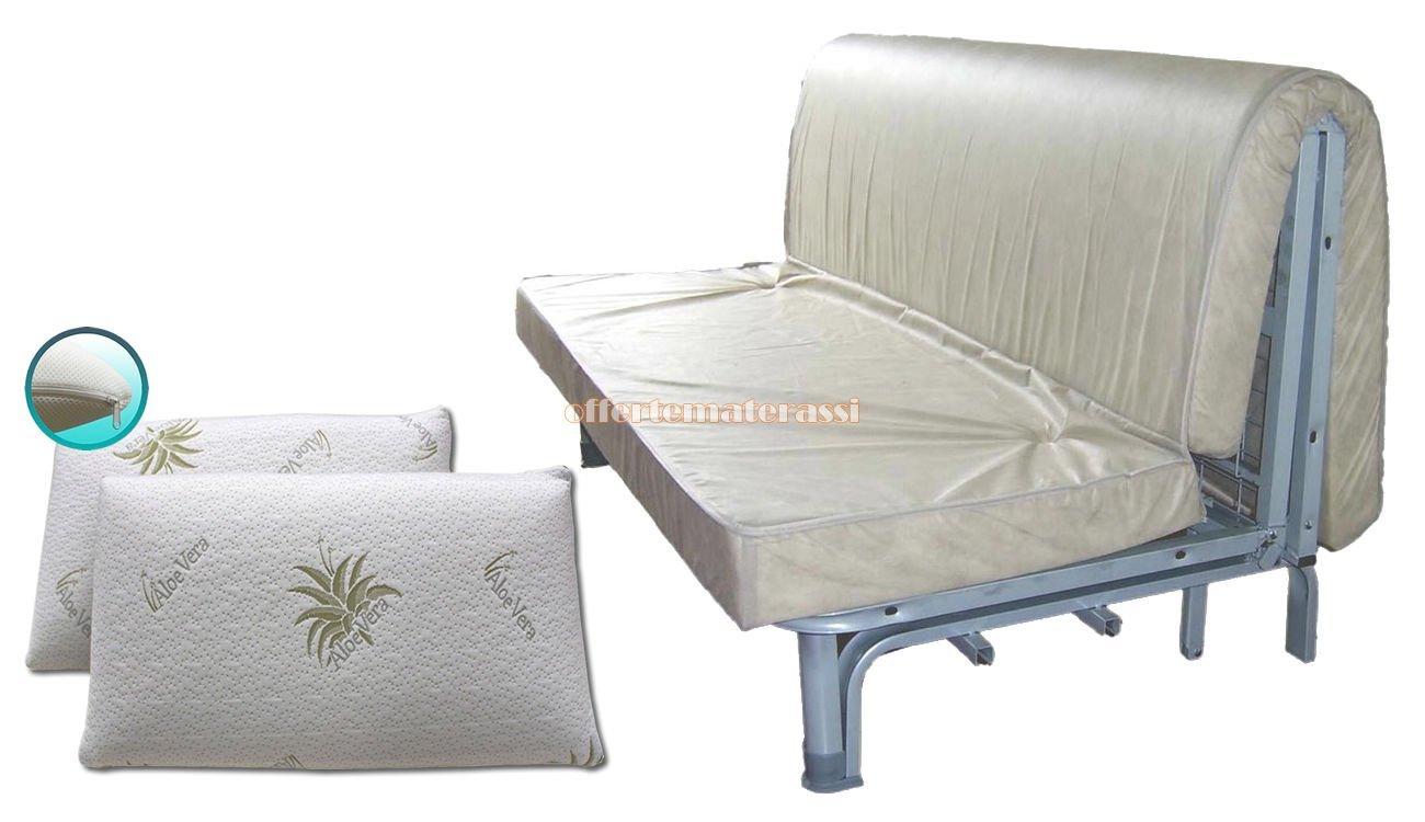 Colchón de Poliuretano para cama de matrimonio, 160 x 190 cm + Par de Cojines de Memory con revestimiento de Aloe: Amazon.es: Hogar