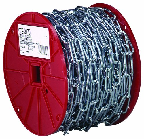 (Campbell 0723627 2/0 X 125' Straight Link Coil Chain Reel)