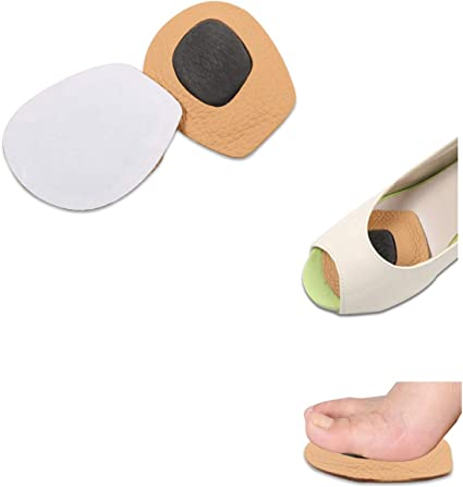 1 Pair Half Insoles Self-adhesion Shoe Inserts Forefoot Pads Shoe Pads for Women