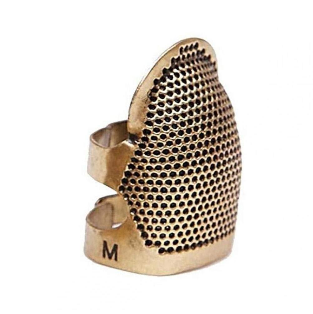 CULER Dedo Ajustable del dedal de Costura Bordado hogar de roscado del aro del dedal Protecci/ón Antideslizante Manga del Anillo Retro dedales